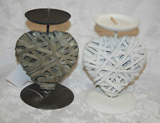 Heart Rustic Candle & Tea Light Holders