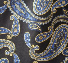 Cavenagh Black Blue and Golden Yellow Paisley Design Tie