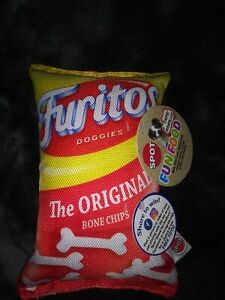 *NEW* SPOT FUN FOOD *FURITOS DOGGIES* TOY BAG OF CHIPS FOR DOGS