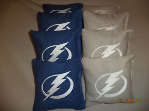 Cornhole bags Tampa Bay Lightning corn hole Bean Bags aca reg size baggo bags