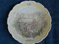 "ROYAL DOULTON THE WIND IN THE WILLOWS ""THE OPEN ROAD"" COLLECTORS PLATE 1987"