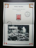Germany Nazi 1943 Stamp Brandenburg Gate Swastika Eagle WW2 Third Reich 10th ann