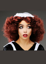 Womens Rocky Horror Style Curly Magenta Wig DOES NOT INCLUDE MAID HEADPIECE