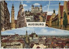 Alte Postkarte - Impressionen von Augsburg