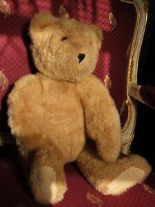 """The Vermont Teddy Bear Company 20"""" Jointed Plush Stuffed Teddy Bear 1992 tan"""