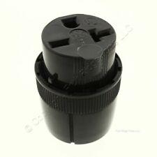 P&S Commercial Grade Straight Blade Plug Connector 20A 250V NEMA 6-20R 5866-BKU