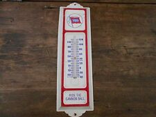 VINTAGE WABASH ( RIDE THE CANNON BALL) THERMOMETER