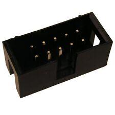 10 Wannenstiftleisten 2,54mm gerade 10polig Stiftleisten Pfostenverbinder 102797
