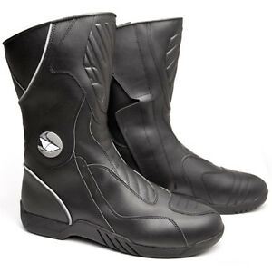 Mens Fly Milepost Sport Touring Streetbike Boots Black Size 7