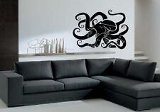 Wall Stickers Vinyl Decal Octopus Sea Creature Ocean Marine Animal  EM484