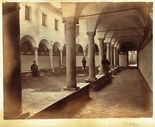 Church of Sant'Onofrio, Rome, Italy. Large 1870s albumen photograph