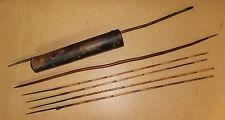 NAMIBIA old african bow 4 arrows quiver flèches BUSHMEN afrique arc et carquois