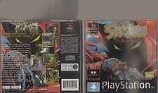 Spawn El eterno Sony Playstation 1 PS1 Manual, Caja De Mangas exterior, no sólo Disco