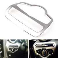 Headlight Lamp Switch Button Cover Trim For Benz C Class W205 2014-2015 Silver