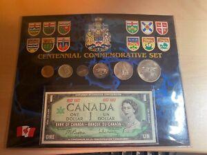 1967 CANADIAN CENNTENNIAL COMMEMORATIVE SET UNC