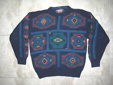 Polo Ralph Lauren Chap Blue Label Hand Knit Pullover Boy Scout Sweater USED XL
