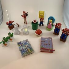 MCDONALD'S HAPPY MEAL TOYS NINTENDO SUPER MARIO LOT Of 14 Cake Toppers