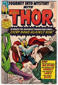 Journey Into Mystery #110 Very Good Minus 3.5 Mighty Thor Jack Kirby Art 1964