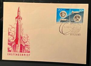 RARE Post Stamped Germany Cover. The First Space ASTRONAUT TERESHKOVA BIKOVSKY.