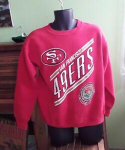 Vintage 80s San Francisco 49ers Crew Neck Sweatshirt 50/50 FOOTBALL USA L NFL