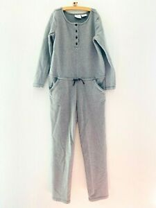 Hanna Andersson Long Sleeve Romper Jumpsuit Cotton One Piece Gray Sz 140 10