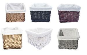 REDUCED TO CLEAR Small Wicker Willow Nursery Organiser Storage Hamper Basket