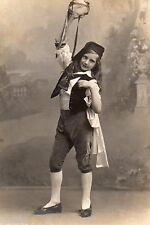 BJ363 Carte Photo vintage card RPPC Enfant danse costume déguisement jeune fille
