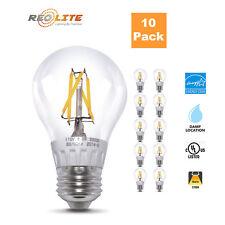 10 Pack Edison A19 Bulb 7W LED Filament Light Bulbs 60W Equivalent 700 Lumens