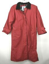 Misty Harbor Men Plaid Lined Corduroy Collar Button Front Rain Jacket Coat Large