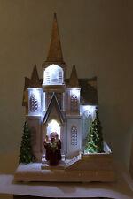 decorazione di Natale Batteria LED BIANCO Chiesa w che si muove Albero & Coro