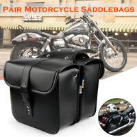 Paar Motorrad Satteltasche Gepäcktaschen Werkzeugtaschen PU Für Harley Davidson