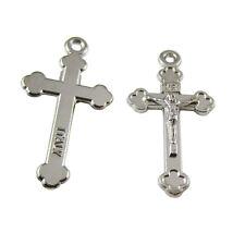 100pcs of Miniature Alloy Jesus Christ Rosary Medal Crucifix Cross Pendant