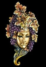 Venezianische Maske - Bacchus - Wand Deko Figur Gesicht Trauben