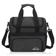 Double Desk Insulated Lunch Bag Large Cooler Shoulder Bag Portable Picnic Bag