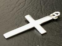 925 Sterling Silver Cross Crucifix Pendant Charm Girls Women Men Unisex 20 mm