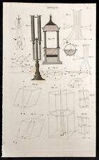1852 - Gravure optique. Science, diffraction de la lumière, physique