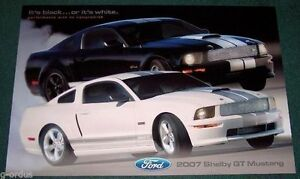"""RARE NEW 2007 FORD SHELBY GT MUSTANG SVT 24"""" X 36"""" POSTER """"IT'S BLACK OR WHITE"""""""