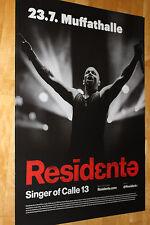 Residende-Singer of calle 13-TOUR MANIFESTO/POSTER TOUR 2017-Nuovo-Monaco