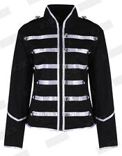 Womens Black Silver Parade Ladies Jacket Steampunk Military MCR Punk Rock Gothic