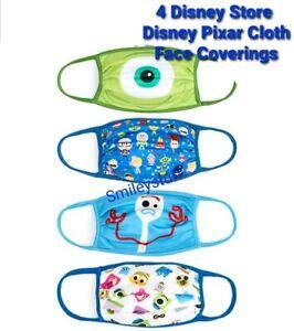 4 DISNEY Store PIXAR Face Covering / Masks, MEDIUM Reusable Washable RRP £20