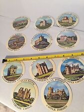 Teachers Scotch Whisky Old Lot Of 11 Paper Coasters Tartans Clans And Castles