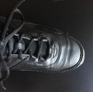 Safe T Step Oil & Slip Work Leather Sneaker Shoes Women 8.5 Wide