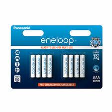 Panasonic BK-4MCCE Eneloop AAA 750mAh Rechargeable Batteries - 8 Pieces