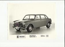"""Wolseley 18/85 MKII ORIGINALE STAMPA FOTO, """"opuscolo"""" connesso"""