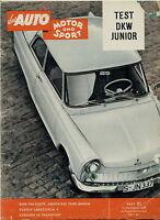 Auto Motor Sport 1959 21/59 Chevrolet Corvair Beutler BMW 700 Haflinger  Abarth