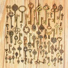 Set of 2 5 10 Vintage Style Old Look Antique Keys with Hollow Shape Heart Bow