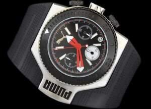 PUMA Motor Collection Herrenuhr Armbanduhr TURBO Chrono Black PU101931001 NEU!