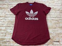 Adidas Men's Pique T-Shirt Maroon ~ Size Large