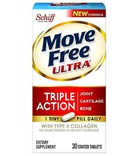 Move Free Ultra UC-II Collagen and Hyaluronic Acid Joint Supplement, 30 Count ,
