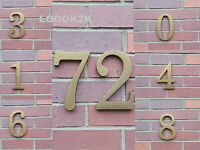 HOUSE NUMBER PLAQUES SIGN DOOR GATE NUMBERS 170.5mm high 0 1 2 3 4 5 6 7 8 9 NEW